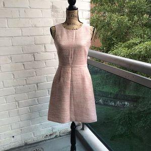 J crew factory pink tweed dress